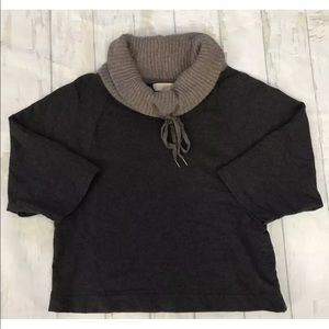 Ann Taylor Loft Women's Sweatshirt Cowl Neck Tunic